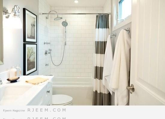 يُفضّل طلاء جدارن الحمام بألوان فاتحة لتمنحك شعوراً بالاتساع