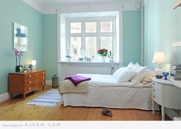 ديكورات غرف نوم بألوان صيفية 2014