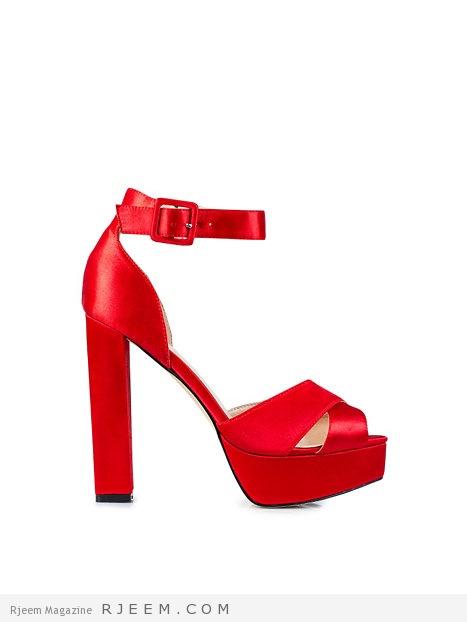 أحذية مناسبات باللون الاحمر