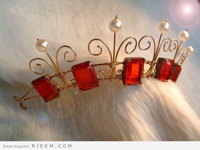اكسسوارات شعر لعروس 2015