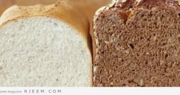 الخبز الابيض و الاسمر