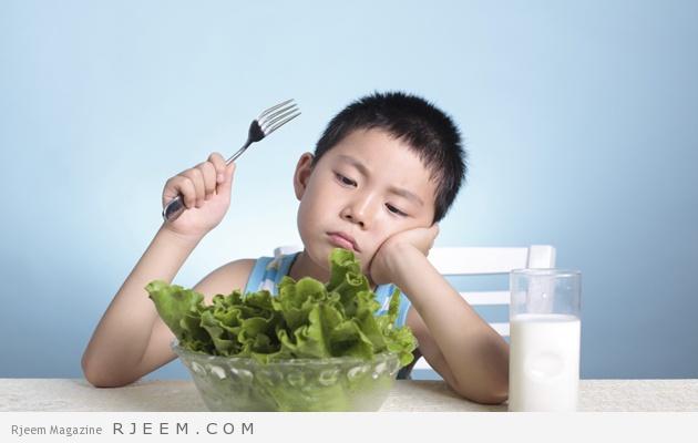 Do not eat vegetables boy