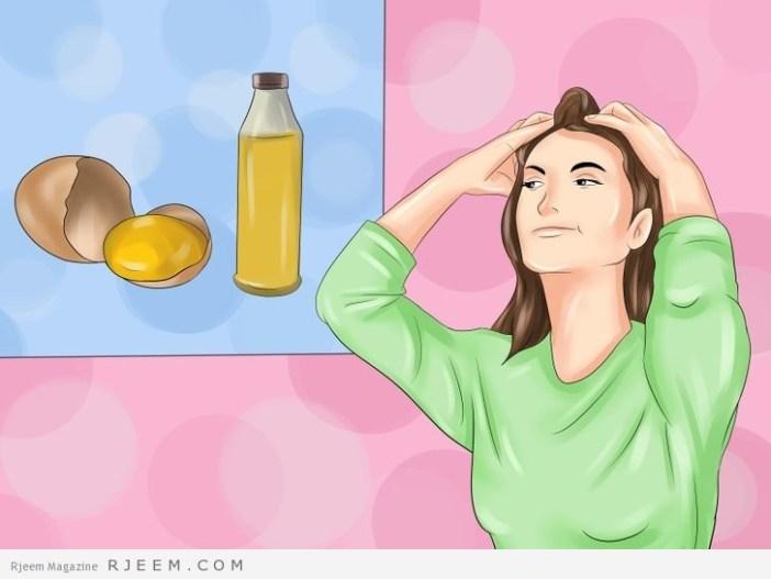 10 علاجات منزلية للتخلص من جفاف الشعر