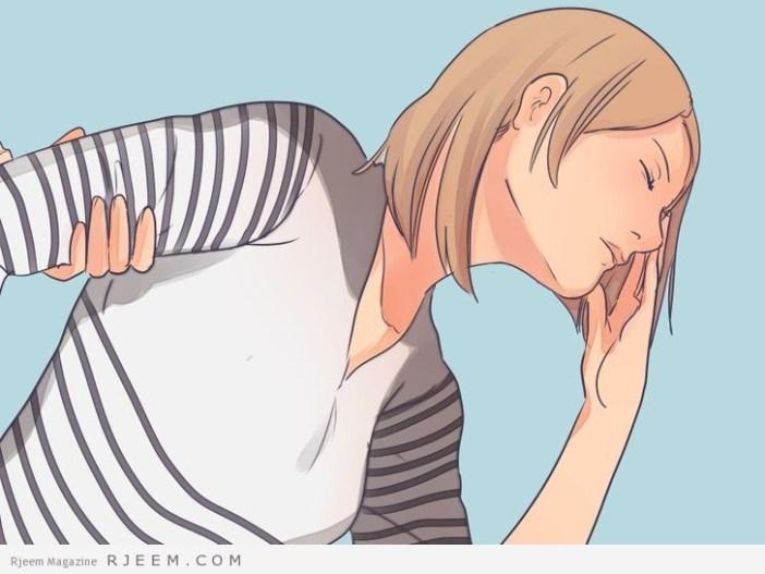 التخلص من انتفاخ البطن اثناء الحمل