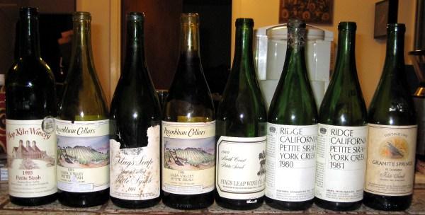 older Petite Sirah bottlings