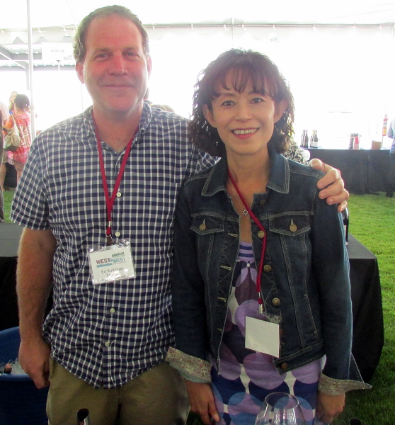 Ed Kurtzman (winemaker) and Akiko Freeman (proprietor)