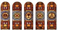 Glas-in-lood, afkomstig uit de Chassékerk, zal hergebruikt worden in de ramen van kapel.