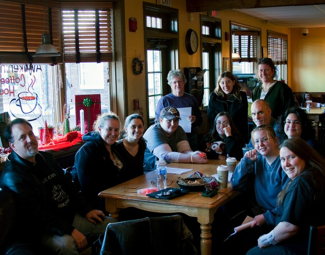 2010 NaNoWrimo TGIO Party happy to be done with the writing!
