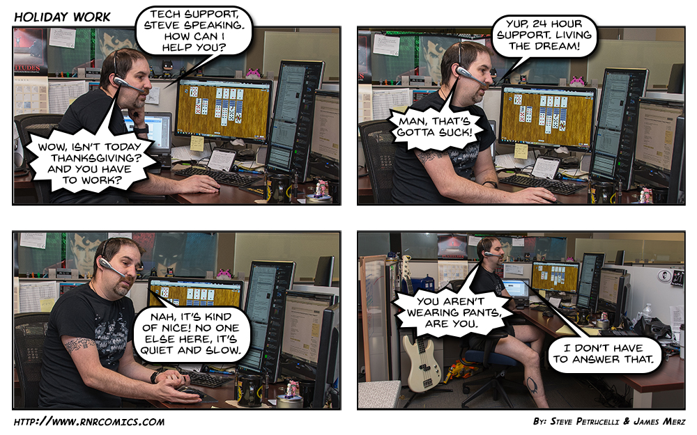 If it were warmer in the office I imagine this comic would have been a lot more awkward.