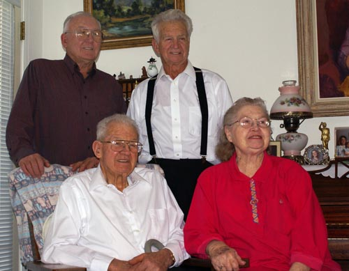 Dad and Siblings, February 2008
