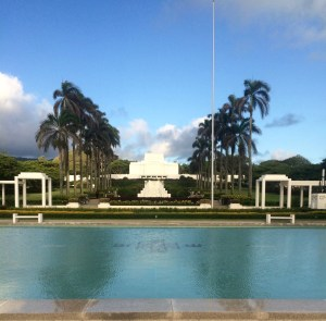 Laie Temple in the Early Morning Before the Fountains Start