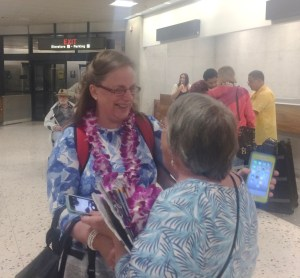 Aunt Pam Arriving at the Honolulu Airport
