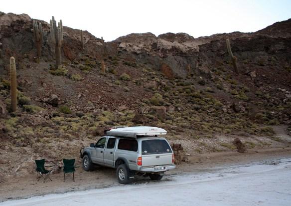 First camping spot - Isla Pescado.