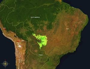 Pantanal wetlands wikipedia map.