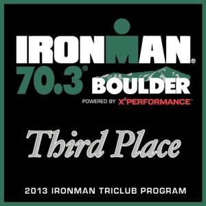 IM Boulder 2013 - Tri Club 3rd