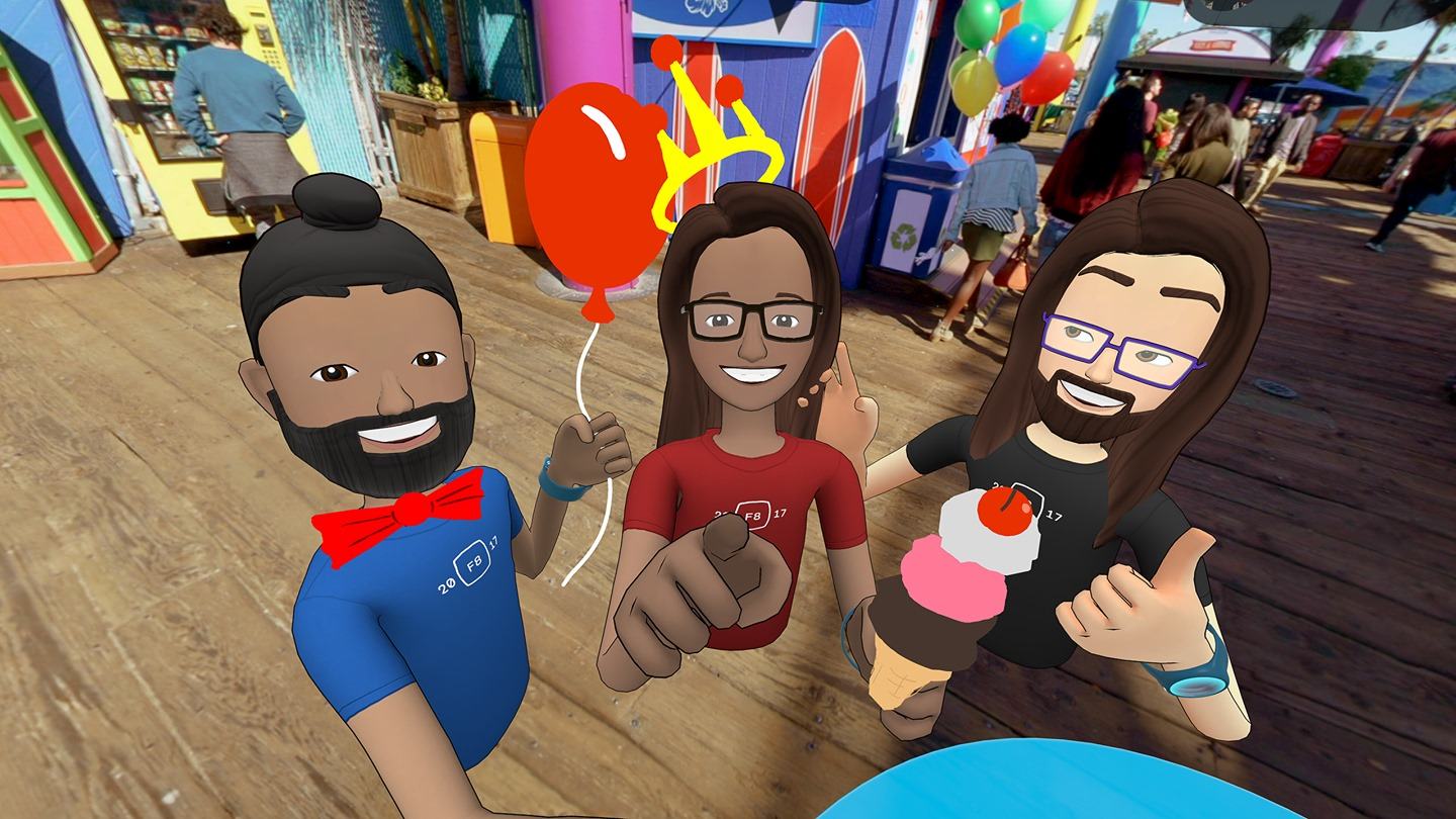 Facebook launches beta of Spaces, its goofy and fun social VR platform
