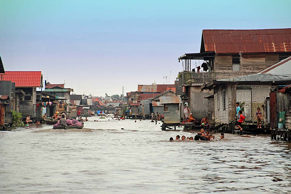 Banjarmasin canals, South Kalimantan, Indonesia