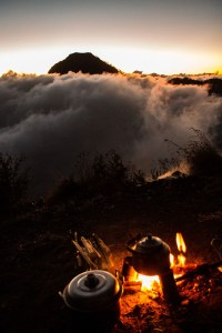 Rinjani camp fire, Lombok