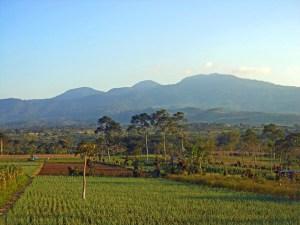 Gunung Kaba seen from the main road between Curup and Lubuk Linggau