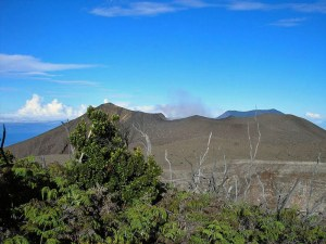Mt Marapi volcanic crater