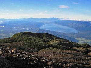 Looking south from Mt Marapi over Lake Singkarak
