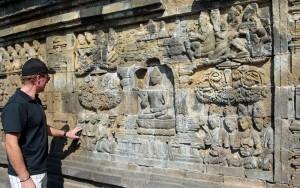 14th century works of art at Borobudur Temple