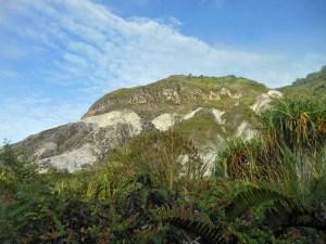 Looking up at Mt Ambang crater walls