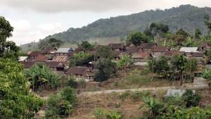 Mbawa hillside village near Bima