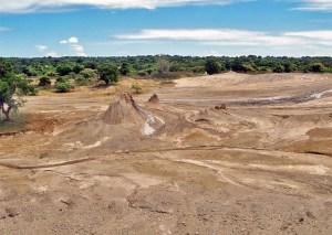 Mud wells on Semau Island, West Timor