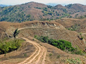 The road to Tamkesi village in the West Timor highlands
