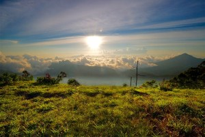 Sunrise on Wolobobo Hill, Flores Indonesia