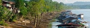 Long Iram village on the Mahakam River, Kalimantan