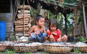 Karimata village children