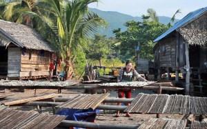 Fish drying in the sun at a Karimata Island village