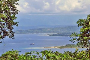 View over Doreri Bay, Makowari from Table Mountain (Gunung Meja)