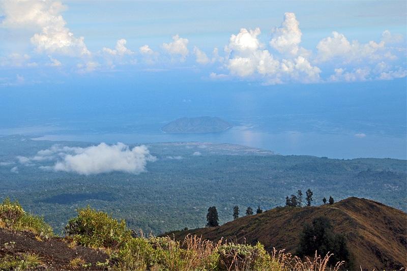 Satonda Island as seen from Mt Tambora volcano, Sumbawa, Indonesia