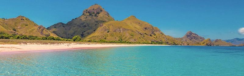 Pink Beach on Padar Island, Komodo National Park, Indonesia