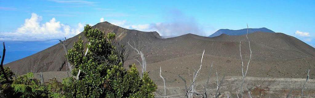 Mt Marapi summit crater, Sumatra, Sulawesi