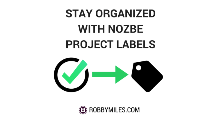 Stay Organized with Nozbe Project Labels