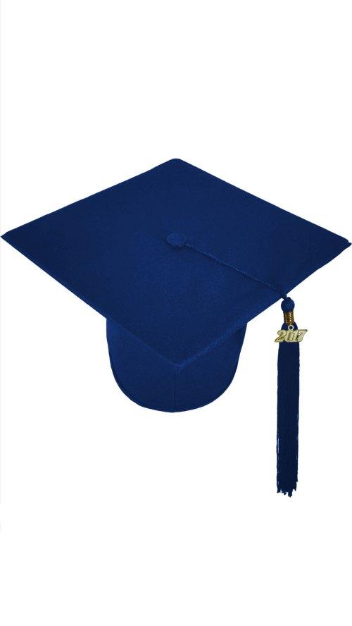 Medium Of Blue Graduation Cap