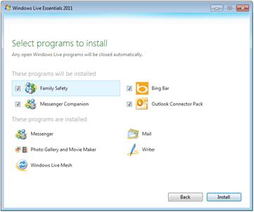 Windows Live Essentials 2011