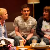 Carol Moore as Dorothy, Declan Rodgers as Stevie and Abi Fitzgibbon in David Ireland's Can't Forget About You