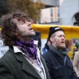 Liam Ó Maonlaí and Glen Hansard at Occupy Dame Street in Dublin