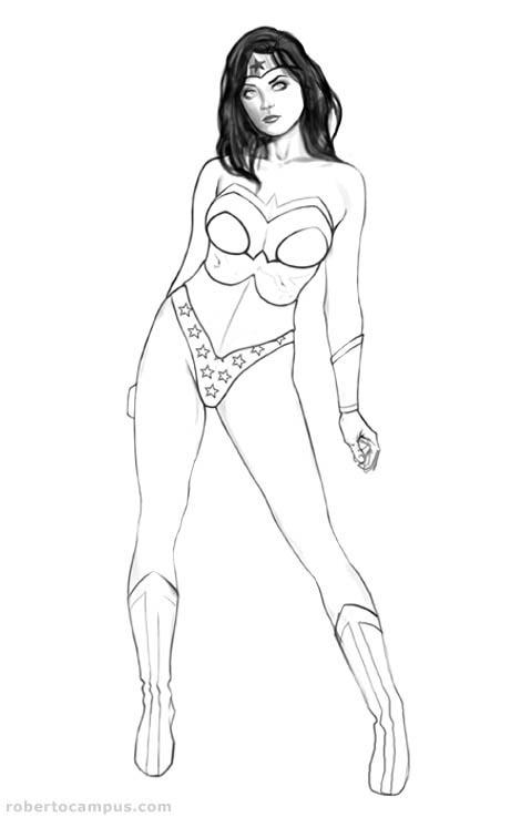 Photoshop Tutorial: Wonder Woman Pin Up Digital Painting