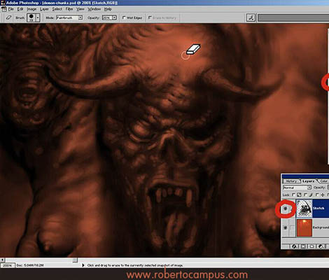 Photoshop Tutorial : Soul Eater Fantasy Digital Painting Step 2