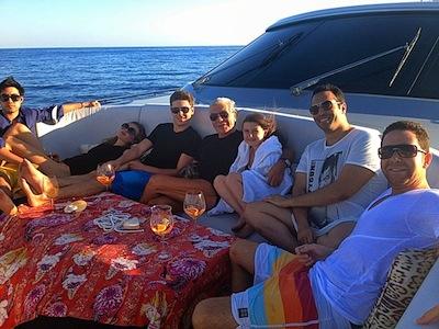 Roberto Cavalli with Zac Efron