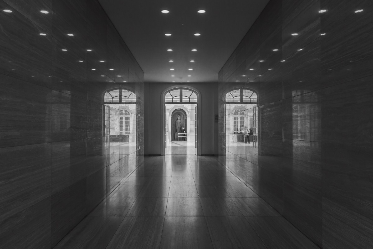 reflections in the corridor