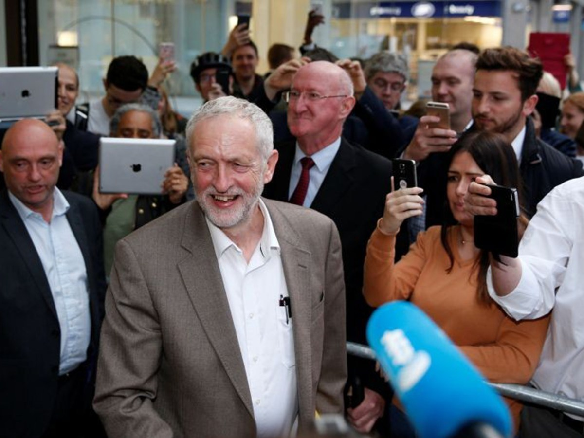 Britain's Labour Party leader Jeremy Corbyn leaves a meeting of the National Executive Committee in central London, Britain July 12, 2016. REUTERS/Paul Hackett