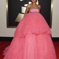 Pretty In Pink - Rihanna Rocks The Grammy Awards