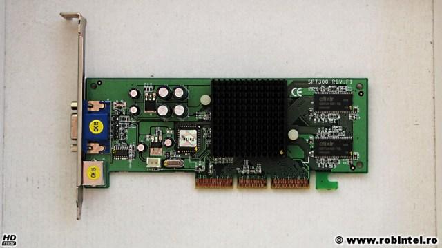 Placa video Sparkle GeForce 4 MX 440 AGP 8X 64MB DDR văzută din față